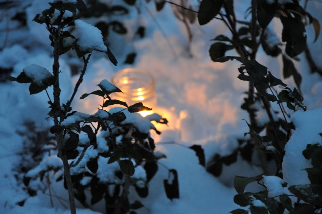 snow candles - 1